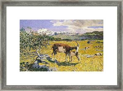 The Alps In May Framed Print by Giovanni Segantini