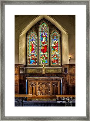 The Altar Windows Framed Print by Adrian Evans