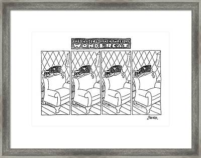 The Amazing Adventures Of Wondercat Framed Print