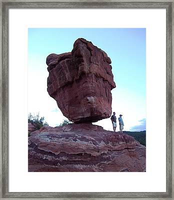Framed Print featuring the photograph The Amazing Balanced Rock 2 by Sheila Byers