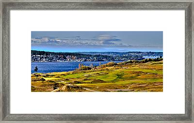 The Amazing Chambers Bay Golf Course - Site Of The 2015 U.s. Open Golf Tournament Framed Print by David Patterson