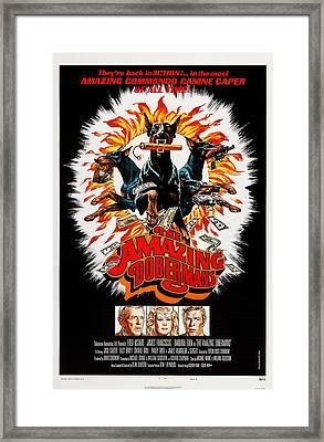 The Amazing Dobermans, Poster, Bottom Framed Print by Everett