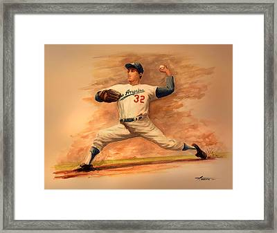 The Amazing Sandy Koufax Framed Print by Todd White