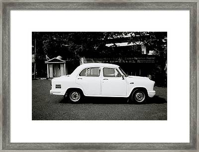 The Ambassador Car Framed Print by Shaun Higson