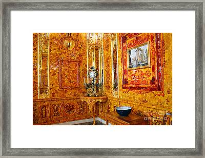 The Amber Room At Catherine Palace Framed Print by Catherine Sherman