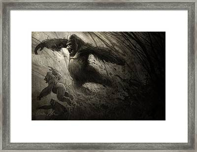 The Ambush Framed Print by Aaron Blaise