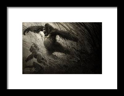 Gorillas Framed Prints