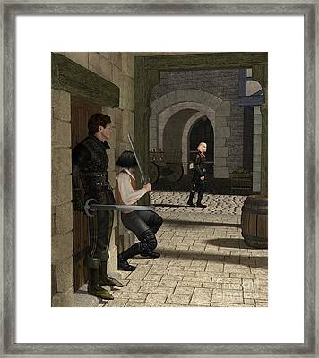 The Ambush Framed Print by Fairy Fantasies