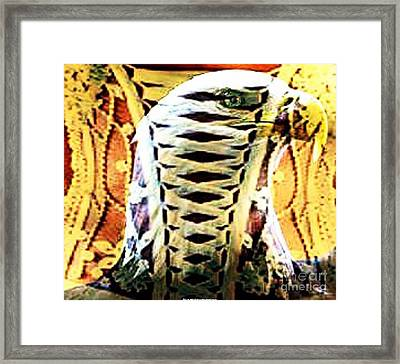 The American Bald Eagle Naughty Eagle 2 Framed Print by PainterArtist FIN