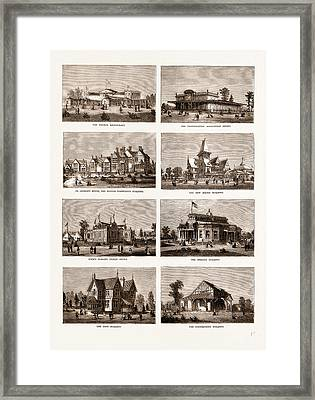 The American Centennial Exhibition Buildings In The Grounds Framed Print by Litz Collection