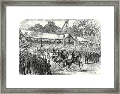 The American Civil War Grand Review Of The Army Framed Print by American School