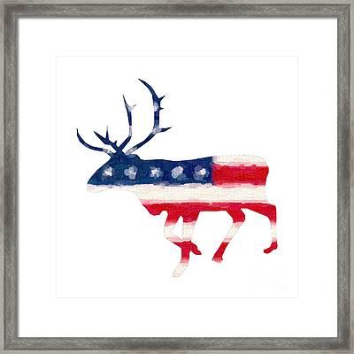 The American Elk Framed Print by Adam Asar