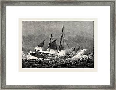 The American Fisheries Question, Fishing Schooner Icing Framed Print