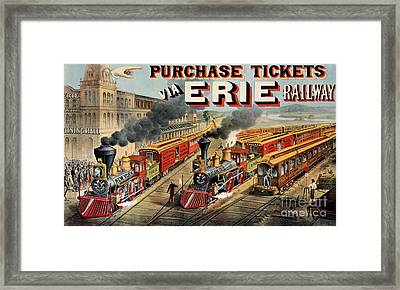 The American Railway Scene  Framed Print by Currier and Ives