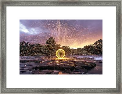 The American River Orb Framed Print by Lee Harland