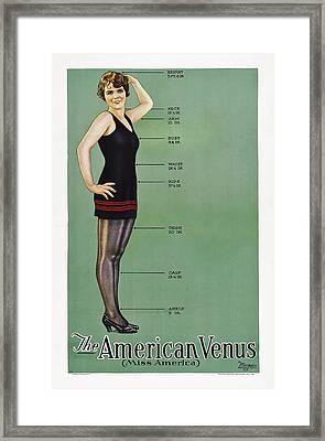The American Venus, Esther Ralston Framed Print by Everett