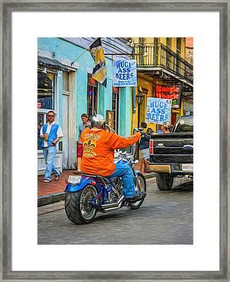 The American Way - Harleys Pickups And Huge Ass Beers - Paint Framed Print by Steve Harrington
