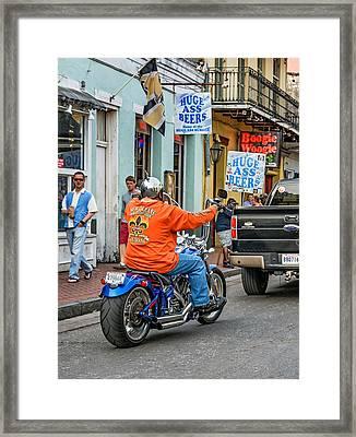 The American Way - Harleys Pickups And Huge Ass Beers Framed Print by Steve Harrington