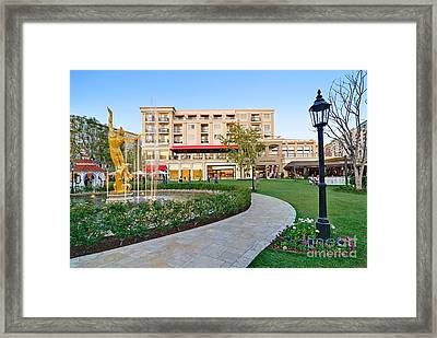 The Americana At Brand Outdoor Shopping Mall In California. Framed Print by Jamie Pham