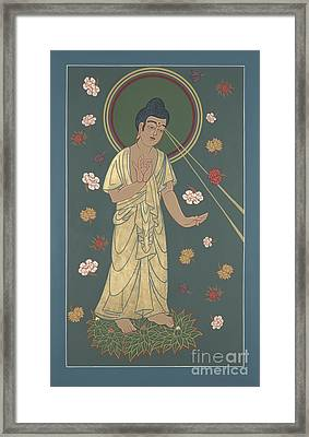 Framed Print featuring the painting The Amitabha Buddha Descending 247 by William Hart McNichols