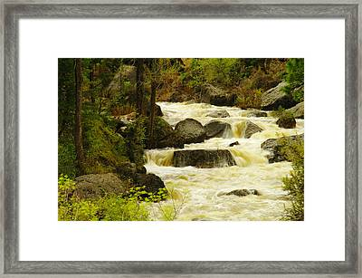 The Amsden River Wyoming Framed Print