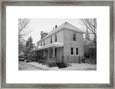 the ananda arthouse in the former st josephs rectory in Forget Saskatchewan Canada Framed Print
