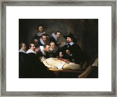 The Anatomy Lesson Of Dr. Nicolaes Tulp Framed Print by Rembrandt van Rijn