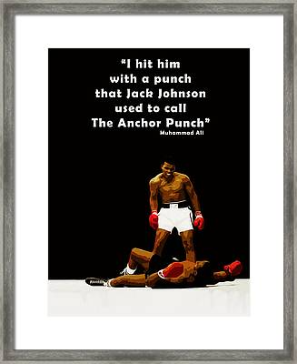 The Anchor Punch Framed Print