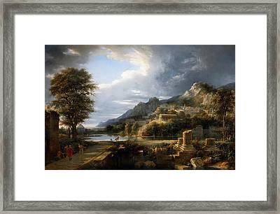 The Ancient City Of Agrigento Framed Print by Pierre-Henri de Valenciennes
