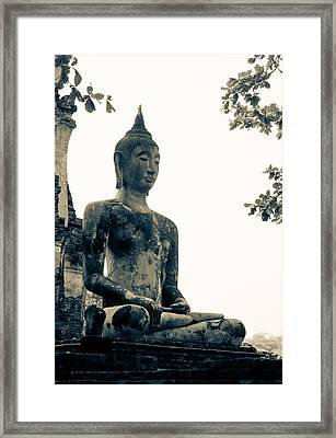 The Ancient City Of Ayutthaya Framed Print by Thosaporn Wintachai
