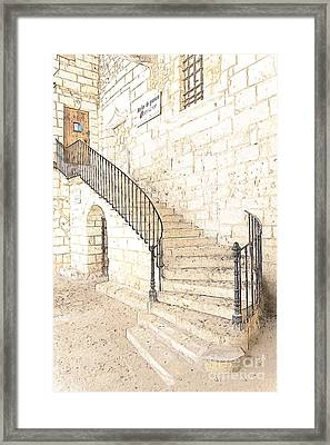 The Ancient Stone Staircase Framed Print