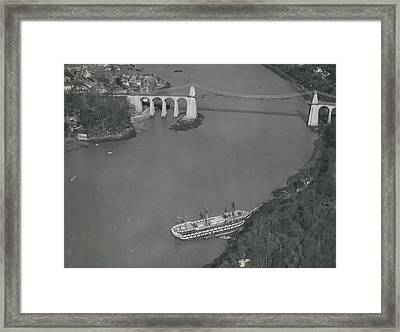 The Ancient Warship Goes A Ground Near The Mena I Framed Print by Retro Images Archive