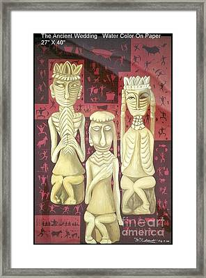 Framed Print featuring the painting The Ancient Wedding by Fei A