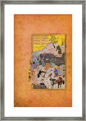 The Anecdote Of The Man Who Fell Into The Water Framed Print by Celestial Images