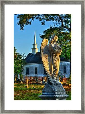 The Angel Guardian Of Walker United Methodist Church Framed Print