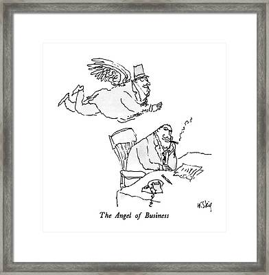 The Angel Of Business Framed Print