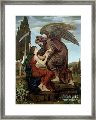 The Angel Of Death Framed Print by Evelyn De Morgan