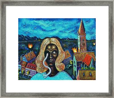 The Angel Of Death Has Snake Eyes Framed Print by Ion vincent DAnu