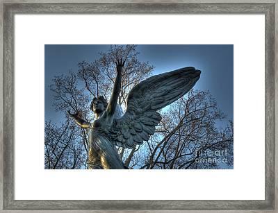 The Angel Of Dusk Framed Print by Lee Dos Santos