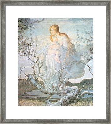 The Angel Of Life Framed Print by Giovanni Segantini