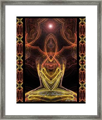 The Angel Of Meditation Framed Print