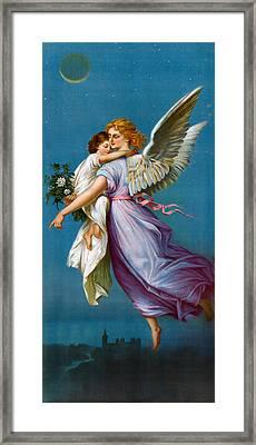 The Angel Of Peace Framed Print by B T Babbitt
