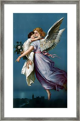The Angel Of Peace For I Phone Framed Print