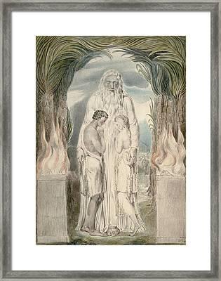 The Angel Of The Divine Presence Framed Print