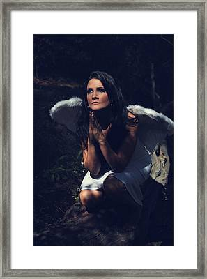 The Angel Prayed Framed Print by Laurie Search