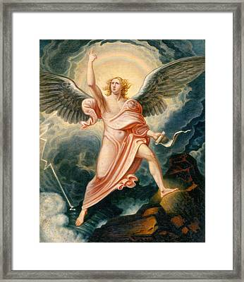 The Angel Proclaiming The End Of Time Framed Print by James Justus Tucker