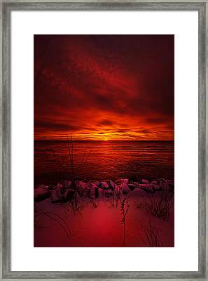 The Angels Have A Better View Framed Print by Phil Koch