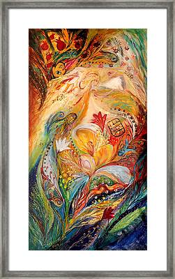 The Angels On Wedding Triptych - Left Side Framed Print