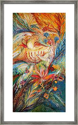 The Angels On Wedding Triptych - Right Side Framed Print by Elena Kotliarker