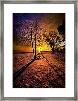 The Angels Sang A Whispered Lullaby Framed Print by Phil Koch